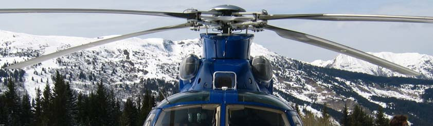 Single Engine Verses Twin Engine Helicopters - Picture: Eurocopter AS365 Dauphin Twin Engine Helicopter - Engine Air Intakes.